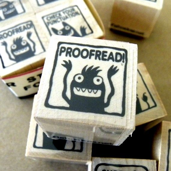 Copywriter proofread stamp
